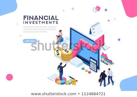 予算 計画 アイソメトリック 3次元の図 ビジネスの方々  金融 ストックフォト © RAStudio