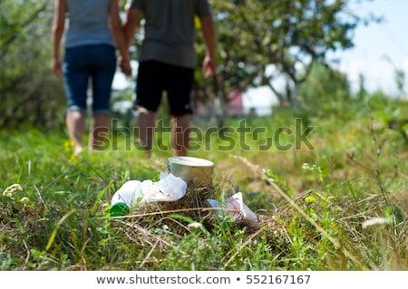 Litter in nature park Stock photo © bluering