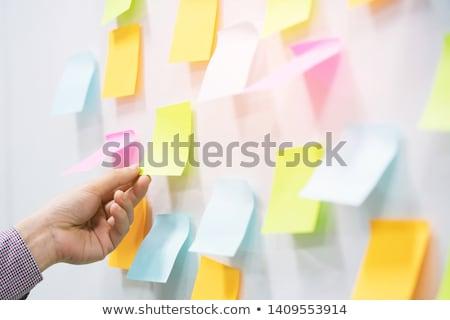 lege · papier · vel · wasknijper · Blauw · geïsoleerd - stockfoto © make