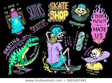 Vintage skate shop emblems Stock photo © netkov1