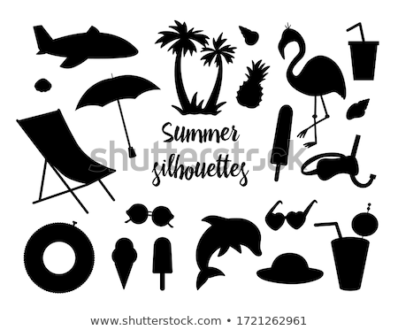 pineapple and sunglasses set vector illustration stock photo © robuart