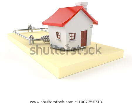 house in mousetrap. Isolated 3D illustration Stock photo © ISerg