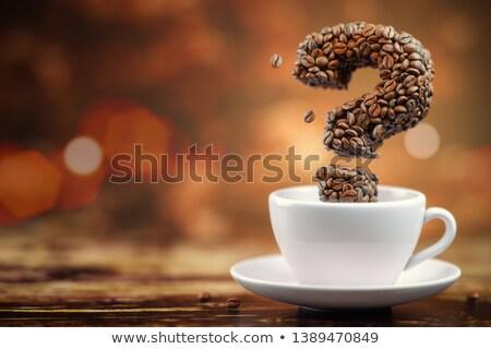 coffee question mark illustration stock photo © lenm
