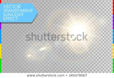 Foto stock: Vector Transparent Sunlight Special Lens Flare Light Effect Isolated Sun Flash Rays Spotlight