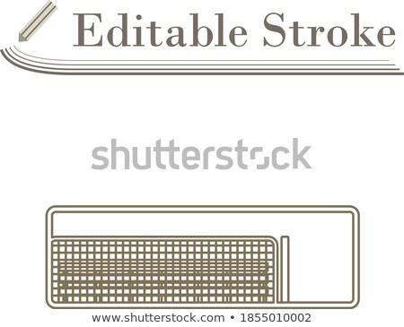 vector · ilustración · blanco · béisbol · sombrero - foto stock © angelp