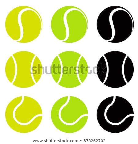 Tennis ball flat icon Stock photo © biv