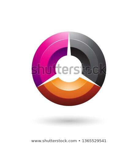 Magenta preto círculo vetor ilustração Foto stock © cidepix