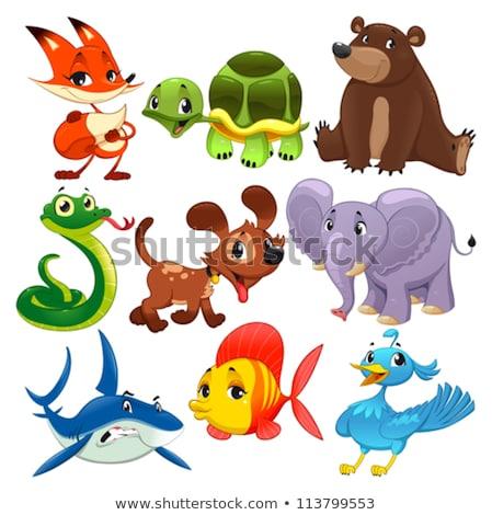 dogs or puppies cartoon animals set Stock fotó © izakowski