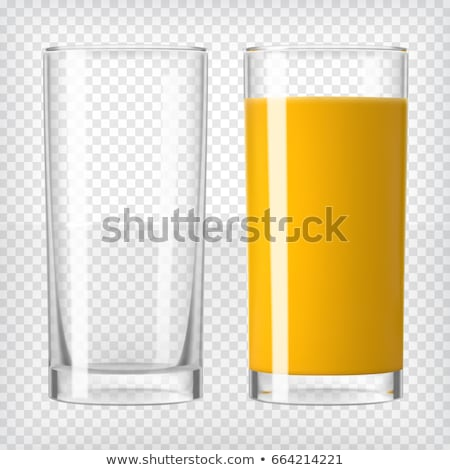 Realistic Glass With Beverage Cocktail Vector Stock fotó © pikepicture
