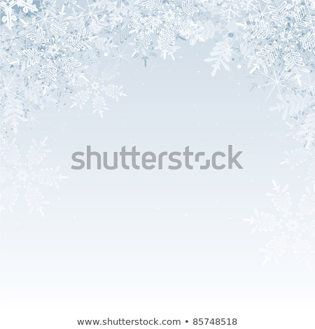 winter background snowflakes vector blue and gray snowflakes fr stock photo © frimufilms