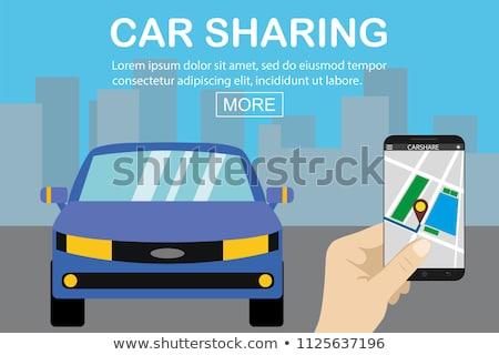 стороны смартфон автомобилей разделение иконки бизнеса Сток-фото © dolgachov