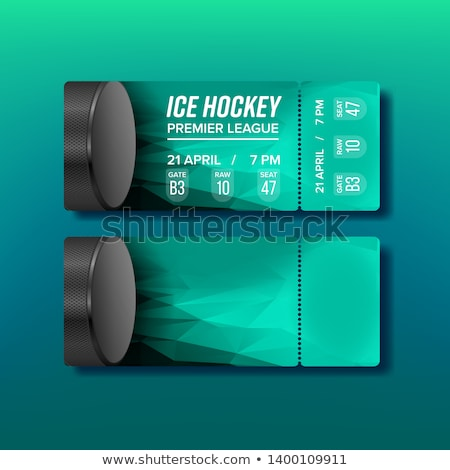 Ticket Tear-off Coupon For Hockey Sport Vector Stock photo © pikepicture