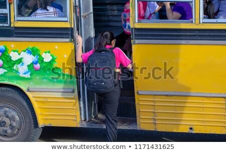 学生 スクールバス 実例 芸術 教育 ストックフォト © colematt