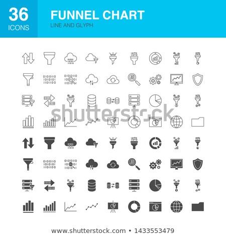 воронка диаграммы линия веб иконки Инфографика Сток-фото © Anna_leni