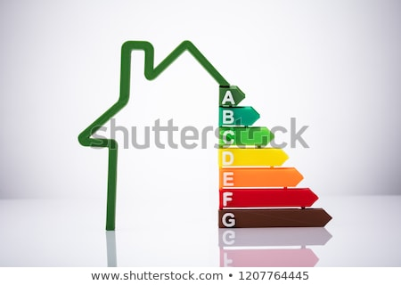 Klein huis energie-efficiëntie witte bureau Stockfoto © AndreyPopov