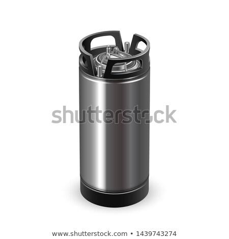 Modernes noir chrome métallique baril vecteur Photo stock © pikepicture