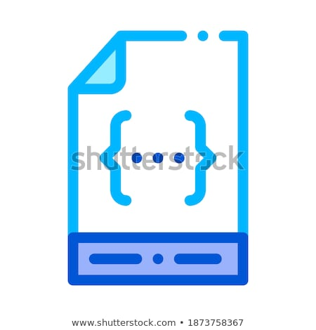Binary File Coding System Vector Thin Line Icon stock photo © pikepicture