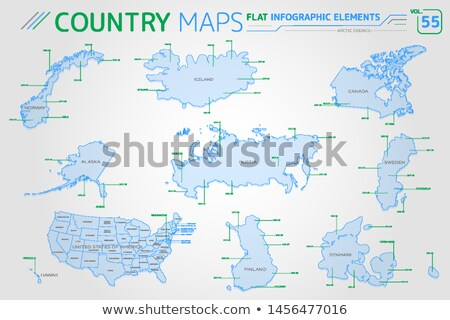 Arctic Council, Canada, Denmark, Finland, Iceland, Norway, Russia, Sweden nd United States of Americ Stock photo © ConceptCafe