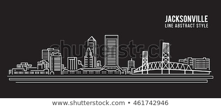Silhueta Flórida linha do horizonte centro da cidade edifício cidade Foto stock © Winner