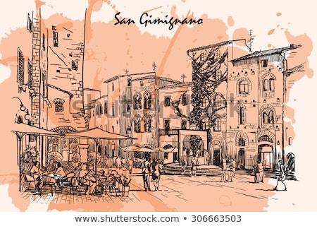 landscape around San Gimignano, Italy Stock photo © borisb17