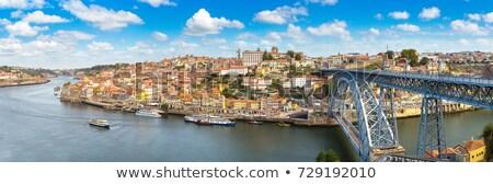 oude · stad · Portugal · rivier · brug · stad - stockfoto © diego_cervo