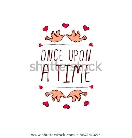 Kalp sevmek ikon kırmızı simge valentine Stok fotoğraf © kyryloff