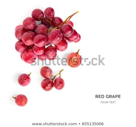 rijp · geïsoleerd · witte · blad · Rood · eten - stockfoto © bdspn