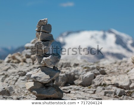 Stone pile in the Alps Stock photo © lichtmeister