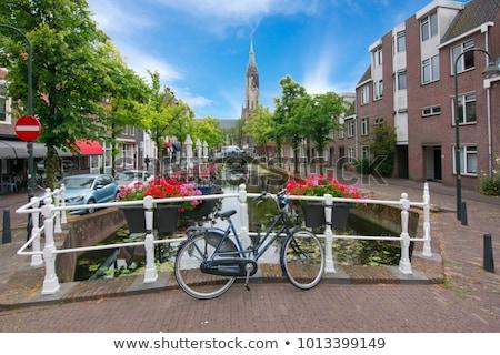 Kanaal Nederland historisch huizen boot Stockfoto © borisb17