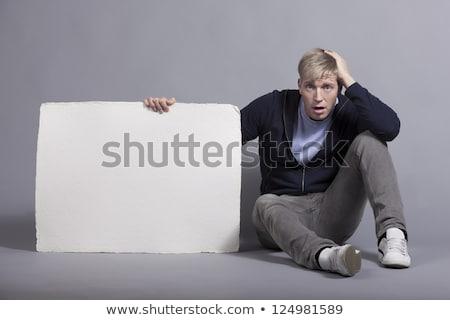 человека · белый · пусто · панель · Новости - Сток-фото © lichtmeister