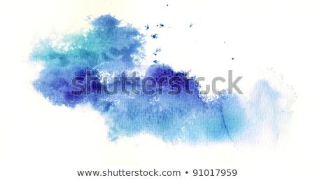 水彩画 · 青 · サークル · ベクトル · 水 · テクスチャ - ストックフォト © artspace