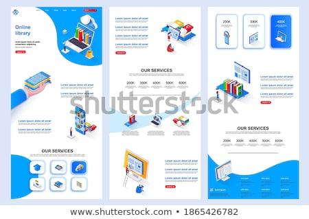 Vállalati irodalom szalag fejléc márka marketing Stock fotó © RAStudio