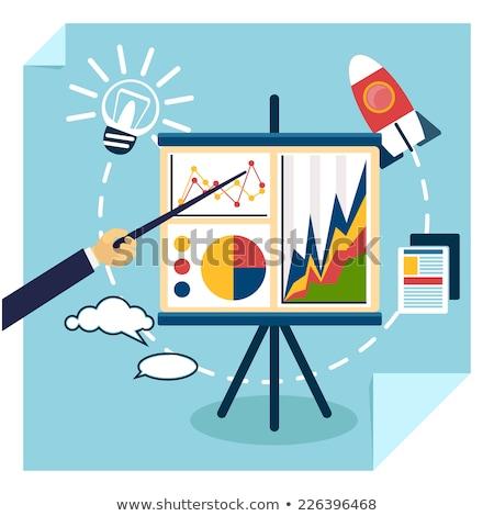 Startup prezentacji udany wynikać wektora Zdjęcia stock © robuart