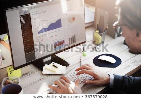 小さな · アフリカ · ブローカー · 見える · 金融 · データ - ストックフォト © andreypopov