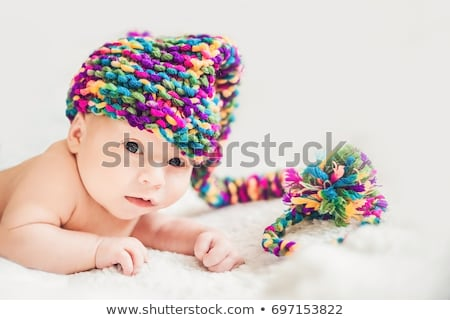 Baby nuovo anni gnome cap Foto d'archivio © galitskaya