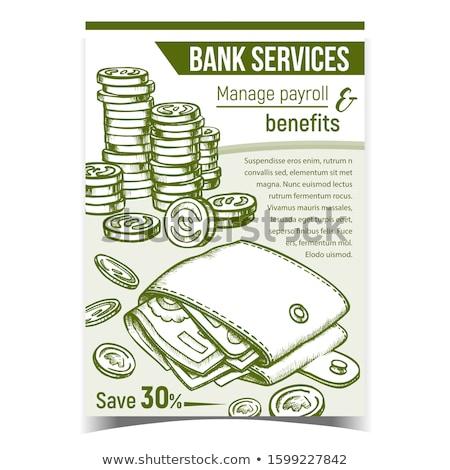 Pénz bankjegyek monokróm vektor tele személyes Stock fotó © pikepicture