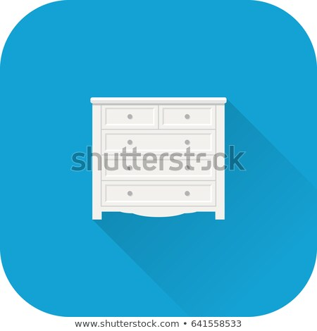 Chest of Drawers Isolated on White Vector Image Stock photo © robuart