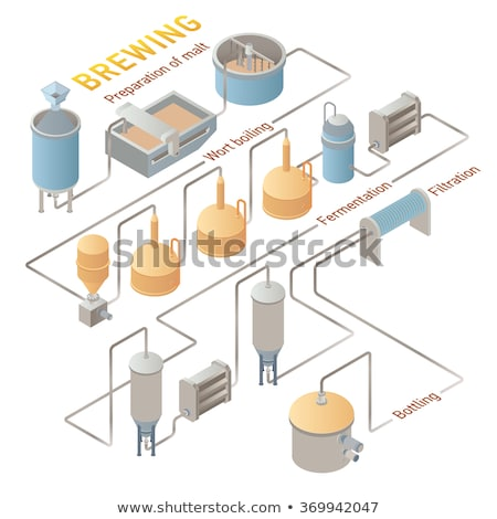 Vector isometric craft beer brewery Stock photo © tele52