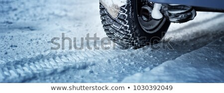 Car Tire With Snow After Snowfall Stock photo © AndreyPopov