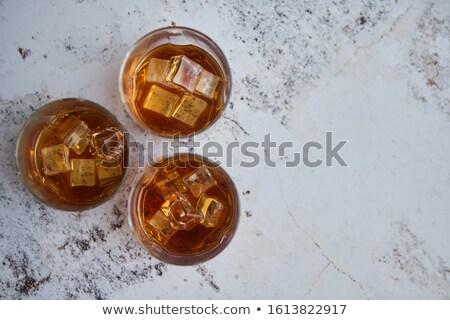 Trzy okulary starych aromatyczny whisky Zdjęcia stock © dash