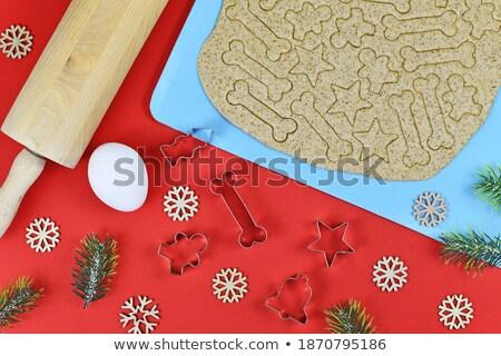 Noel kurabiye süslemeleri ev yapımı kar Stok fotoğraf © Melnyk