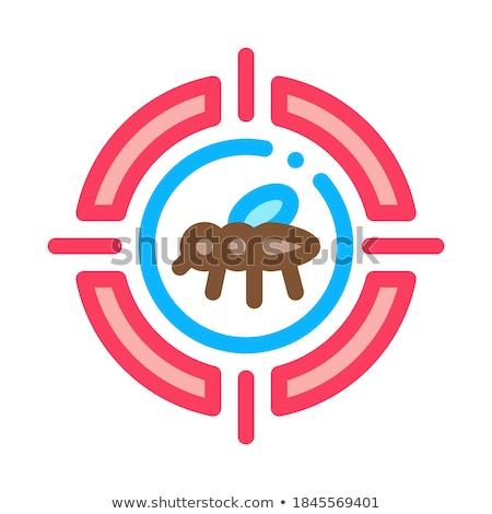 Mug target icon vector schets illustratie Stockfoto © pikepicture