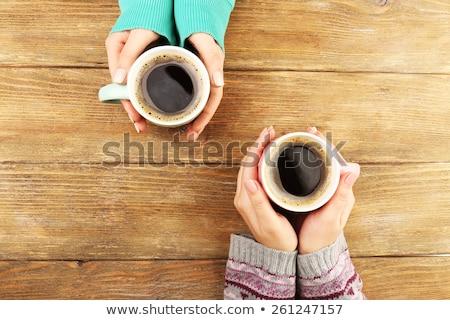Haut vue mains deux accueillant Photo stock © pressmaster