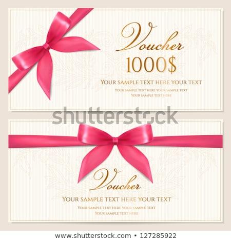 Tarjeta de regalo papel certificado arco folleto Foto stock © robuart