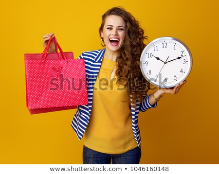 Limited Time on Sale and Discounts Woman with Bags Stock photo © robuart