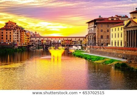 日没 フィレンツェ イタリア 遠く 表示 空 ストックフォト © antonio_gravante