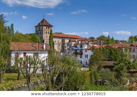 Kerk Frankrijk huis voorjaar Blauw Stockfoto © borisb17