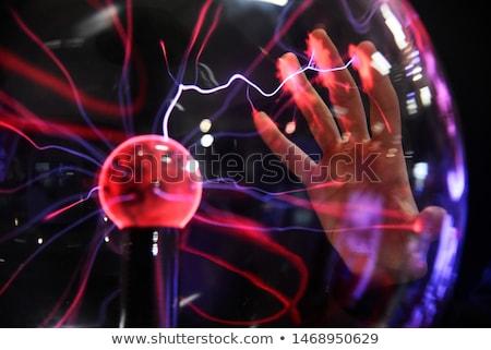 Electric plasma in glass sphere Stock photo © olira