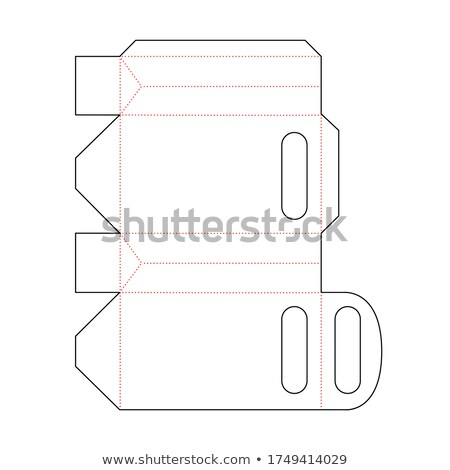 Simple retail packet scheme template on white Stock photo © evgeny89
