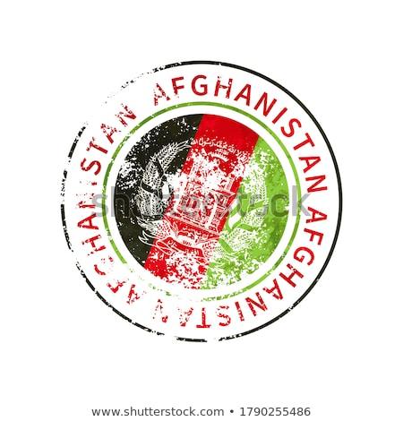 Afganisztán felirat klasszikus grunge lenyomat zászló Stock fotó © evgeny89